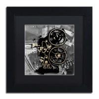 "Trademark Art ""Movie Projector"" by Roderick Stevens Framed ..."
