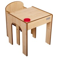 Little Helper FunStation Toddler 2 Piece Table and Chair ...
