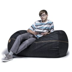 Denim Bean Bag Chair Wobble Reviews Jaxx 4 39 Lounger And Wayfair Ca
