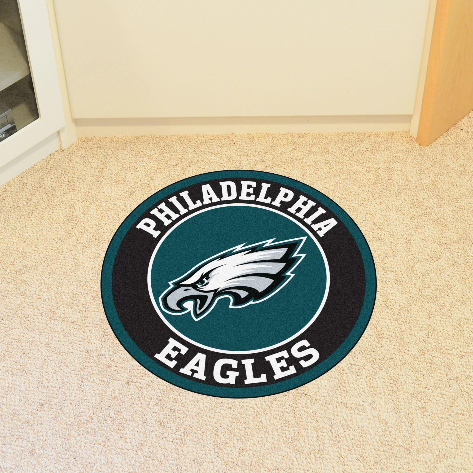 philadelphia eagles chair upholstered with nailhead trim fanmats nfl roundel mat wayfair