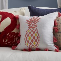 Southern Tide Coastal Embroidered Pineapple Cotton Throw ...