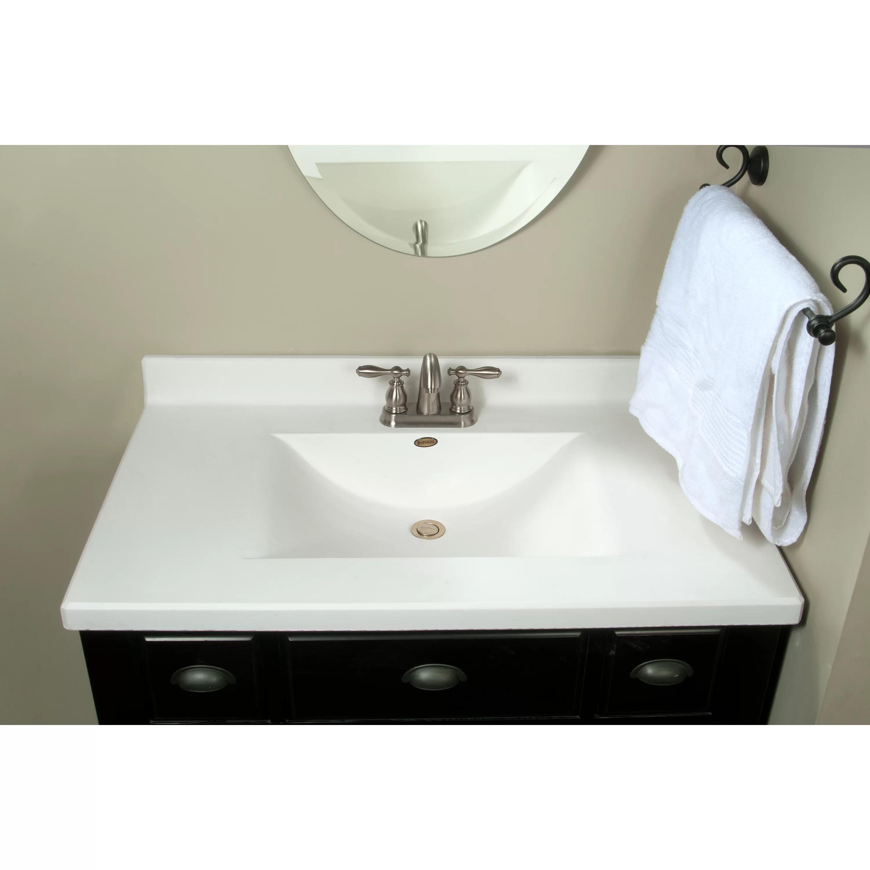 Imperial Centre Wave Bowl 37 Single Bathroom Vanity Top  Reviews  Wayfairca