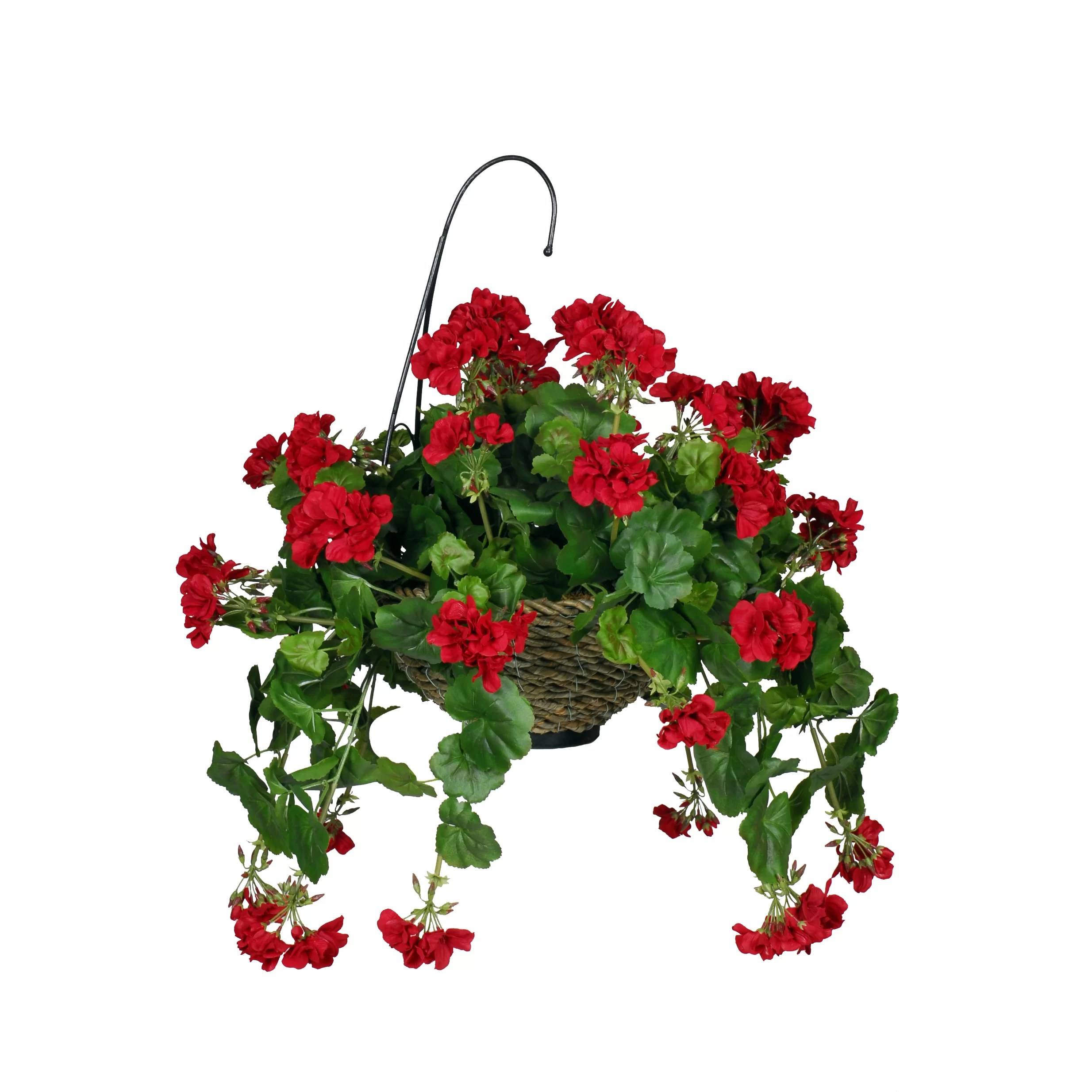 House Of Silk Flowers Artificial Geranium Hanging Plant In