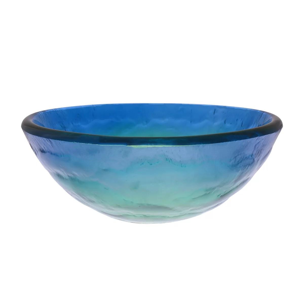 Novatto Mare Glass Vessel Bathroom Sink  Reviews  Wayfair