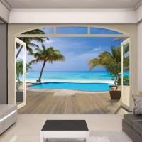 Walltastic View Paradise Beach Wall Mural & Reviews ...