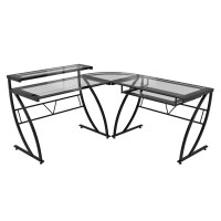 Z-Line Designs Chandler Glass L Desk & Reviews | Wayfair