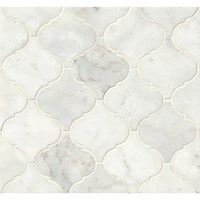 Bedrosians Marble Mosaic Tile in White Carrara & Reviews ...
