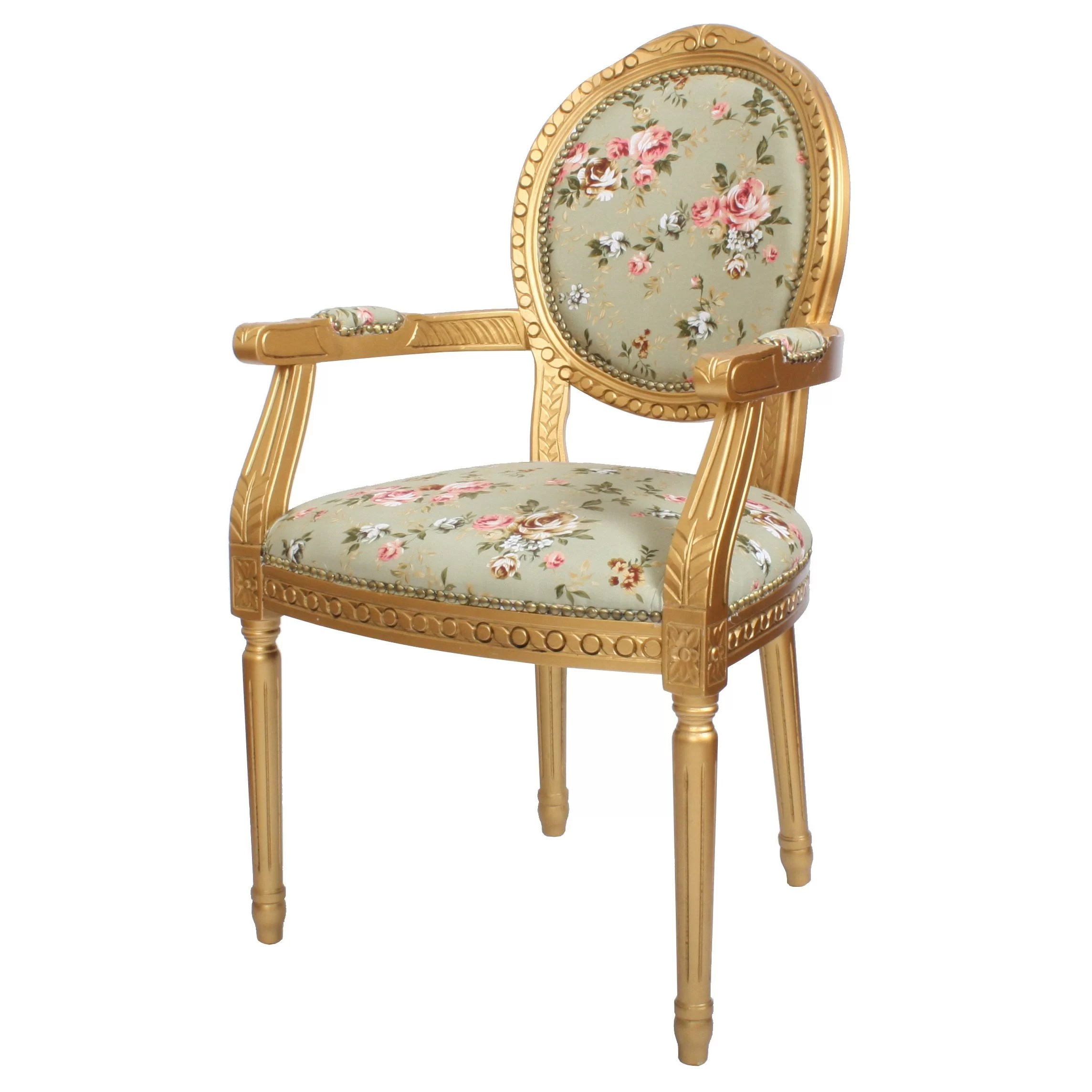 floral upholstered chair ikea tobias review derry 39s louis dining and reviews