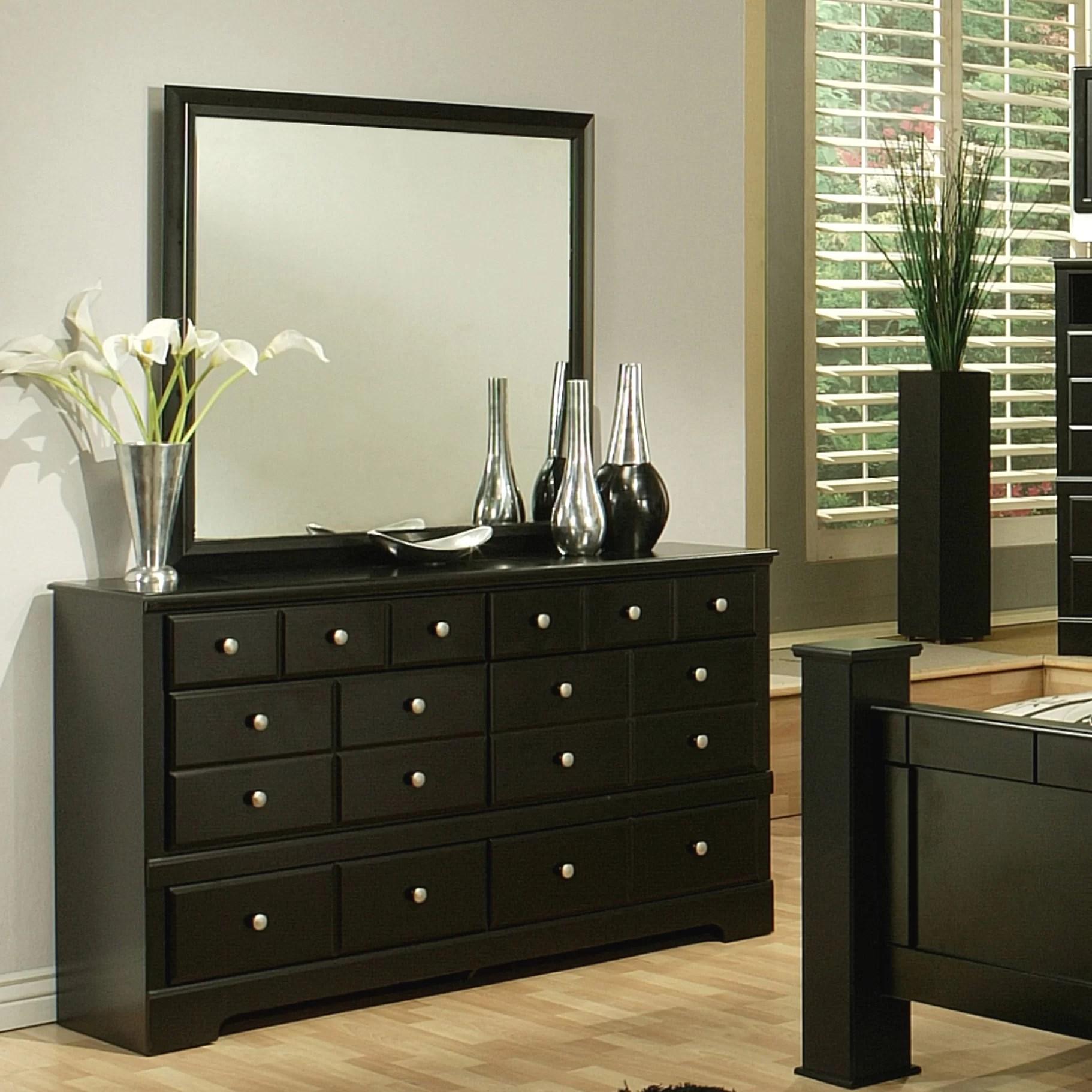 Sandberg Furniture Elena 6 Drawer Dresser with Mirror  Reviews  Wayfair