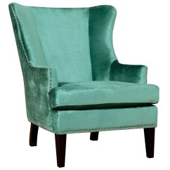 Turquoise Wingback Chair White Desk Without Wheels Tov Soho Wing And Reviews Wayfair