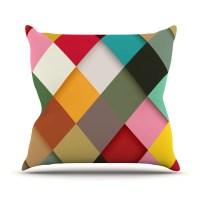 KESS InHouse Colorful Outdoor Throw Pillow | Wayfair