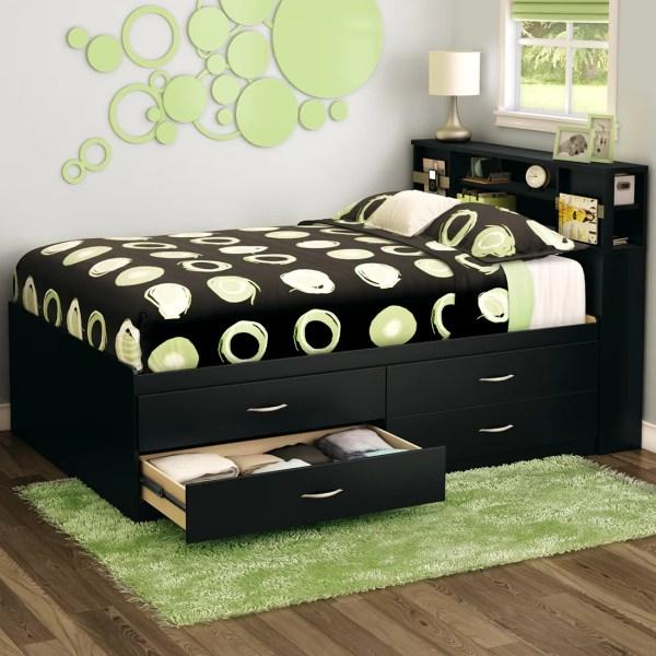 Full Platform Bed with Storage