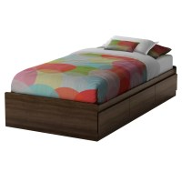 South Shore Cookie Twin Mate's Bed with Storage & Reviews ...