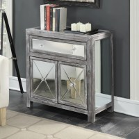 Convenience Concepts Gold Coast Vineyard Mirrored Cabinet ...