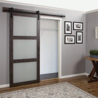 White Interior Barn Doors With Glass Inserts