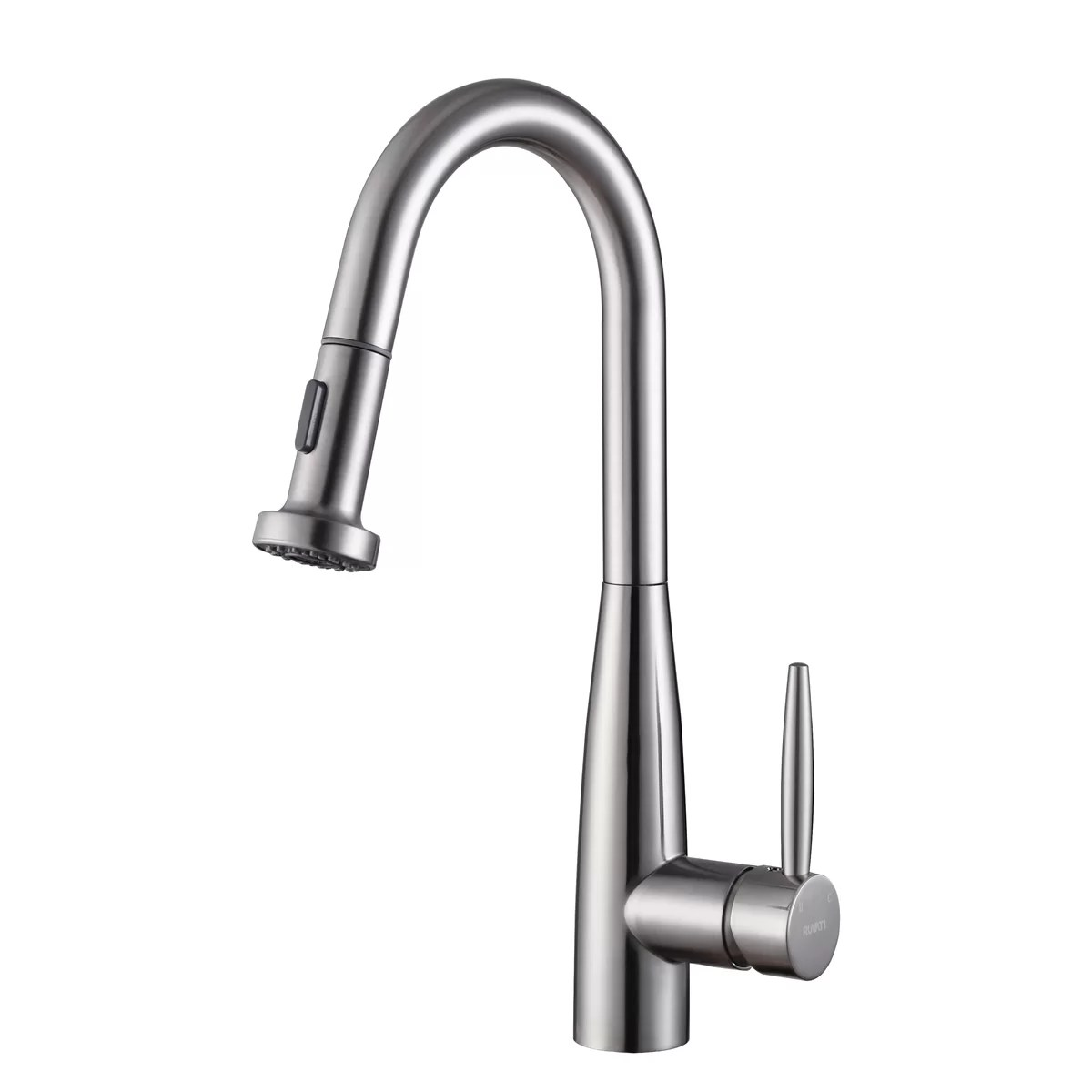 kitchen faucet pull out sprayer sink drain plumbing ruvati turino single handle with