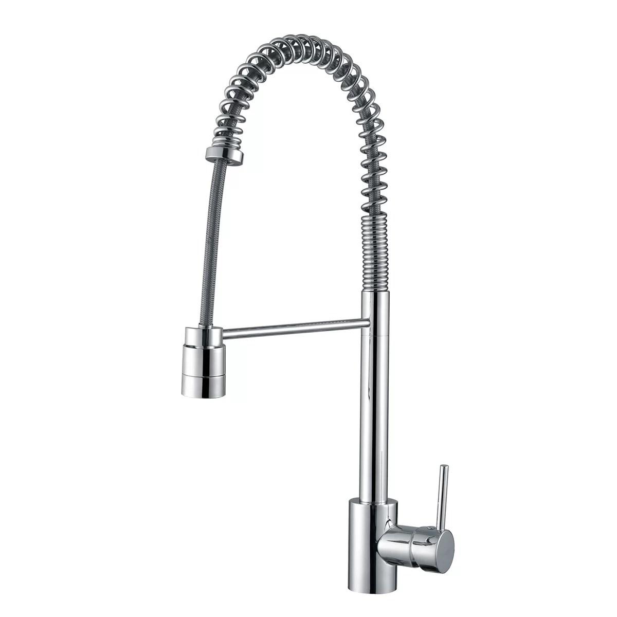 single handle pulldown kitchen faucet industrial light fixtures ruvati cascada pull down