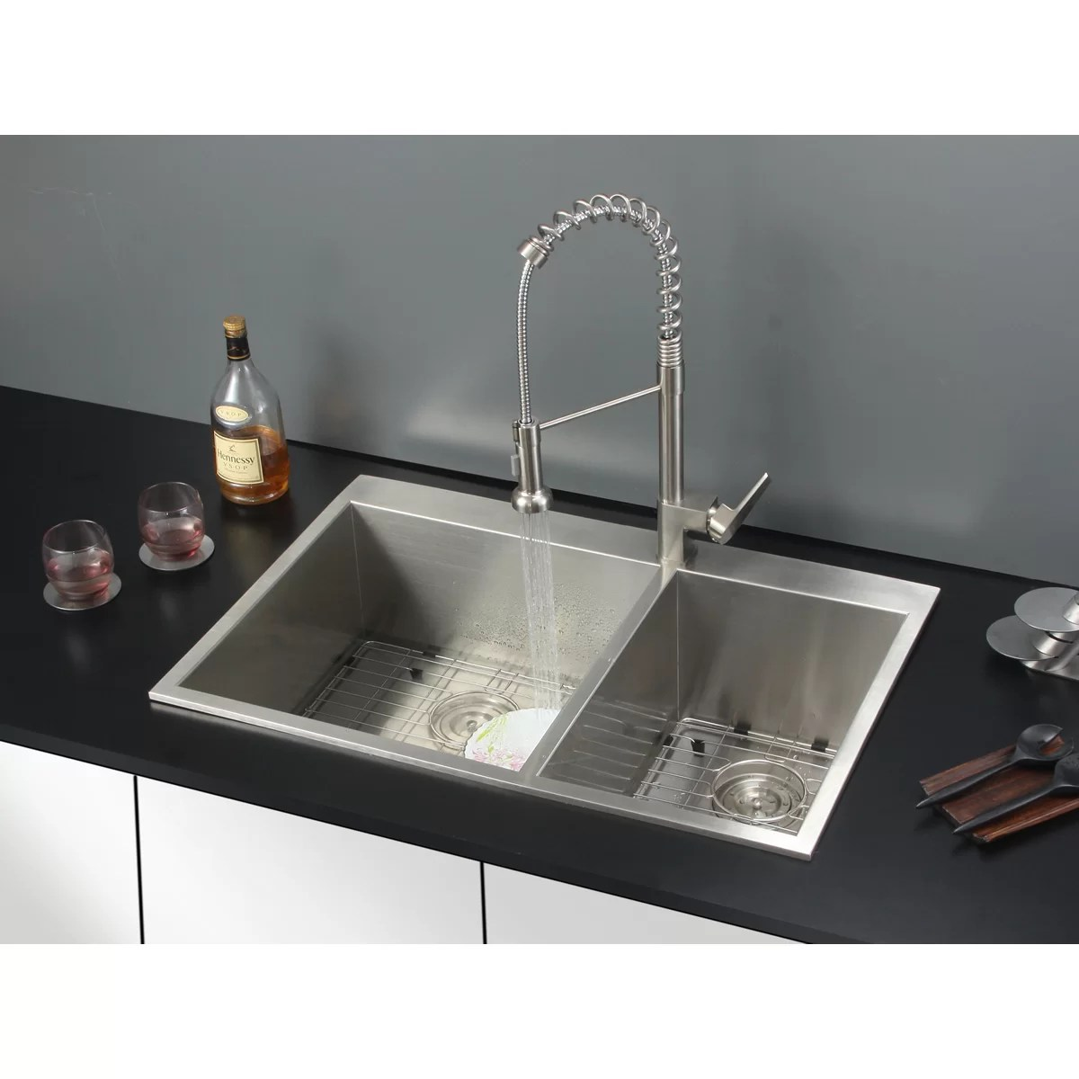 drop in kitchen sinks updated kitchens ruvati 33 quot x 22 sink with faucet