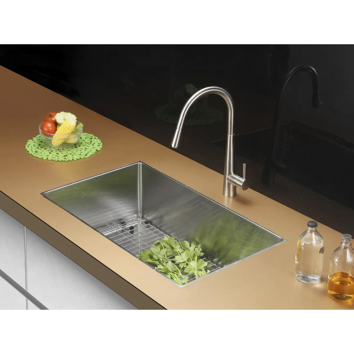 "Ruvati 30"" X 18"" Kitchen Sink With Faucet  Wayfair"