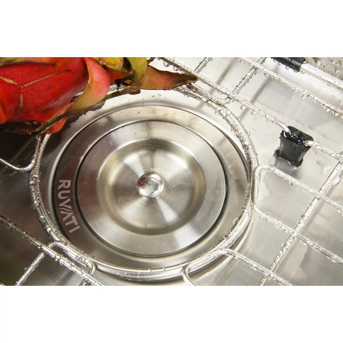 overmount kitchen sink shears ruvati tirana 25 quot x 22 16 gauge single bowl