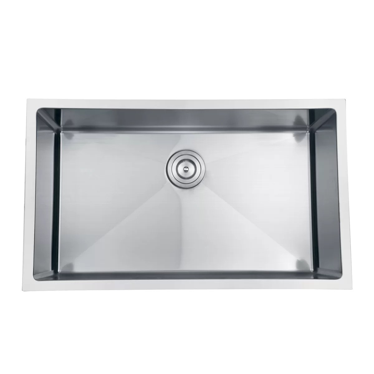 buy undermount kitchen sink built in trash cans for the ruvati gravena 30 quot x 18 single bowl