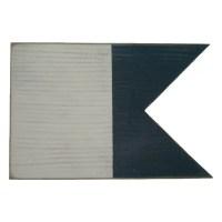 Handcrafted Nautical Decor Letter A Nautical Alphabet Flag ...