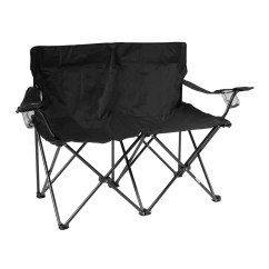 Double Camp Chair Ikea Ekhard Covers Trademark Innovations Loveseat Style Camping
