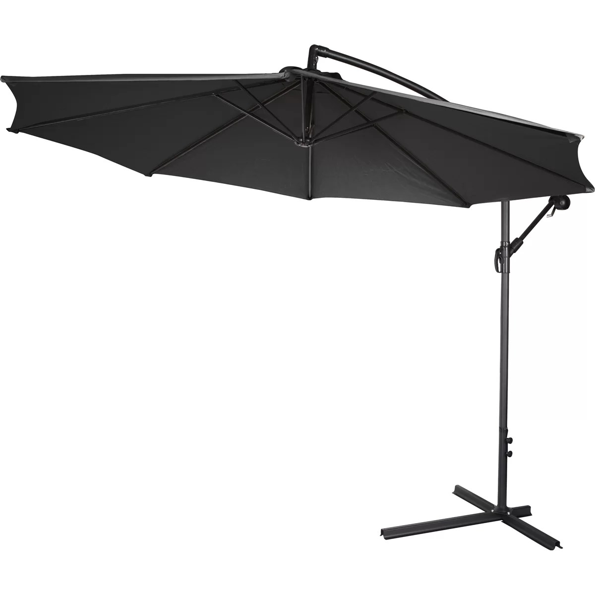 chair king umbrellas plastic dining room covers trademark innovations 10 39 cantilever umbrella and reviews
