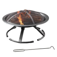 Pleasant Hearth Grab 'N Go Wood Burning Fire Pit & Reviews ...