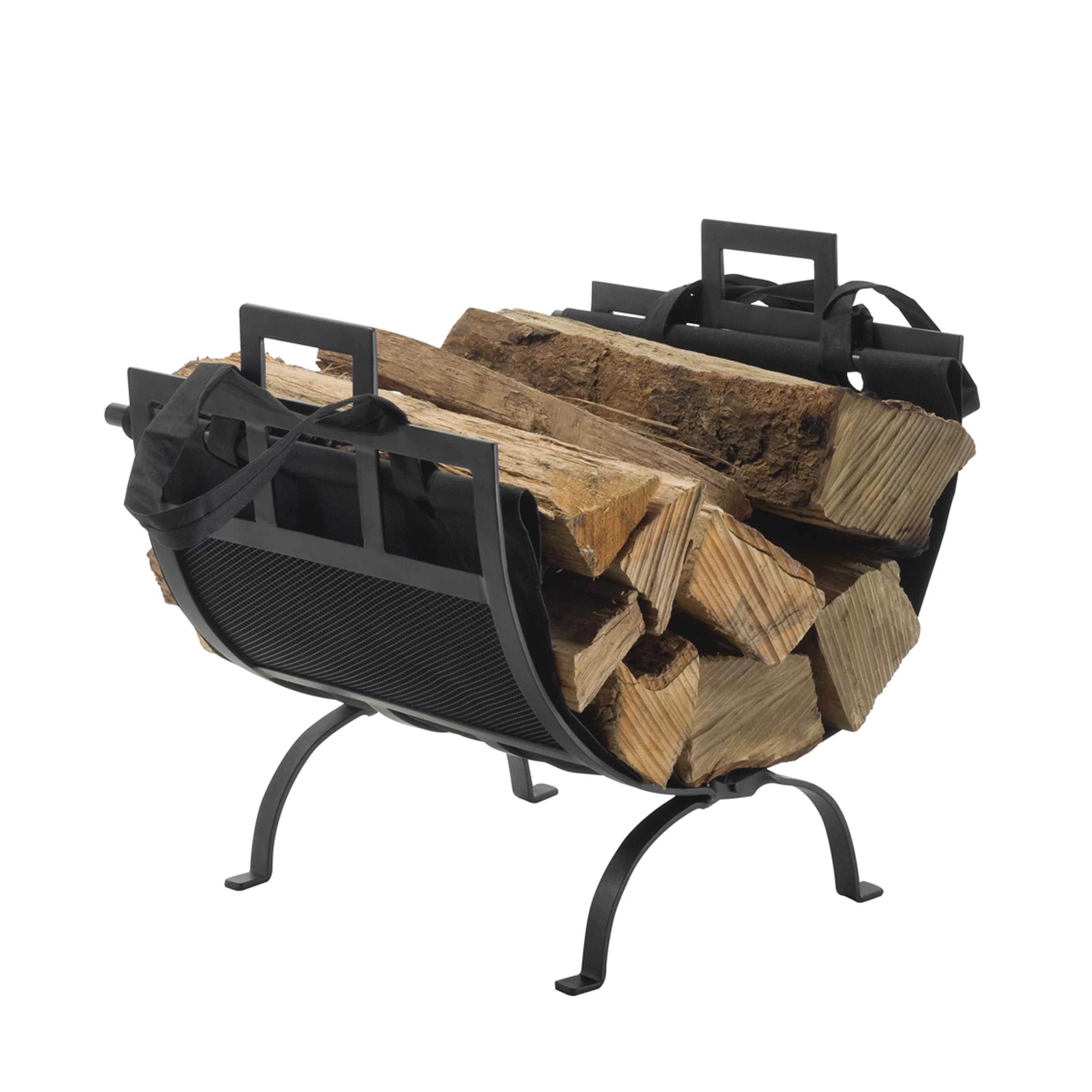 Pleasant Hearth Wrought Iron Fireplace Wood Holder