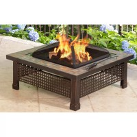 Pleasant Hearth Bradford Outdoor Natural Slate Fire Pit ...