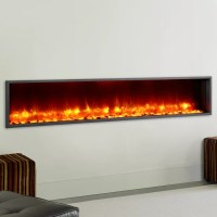 "Dynasty 79"" Built-in LED Wall Mount Electric Fireplace ..."