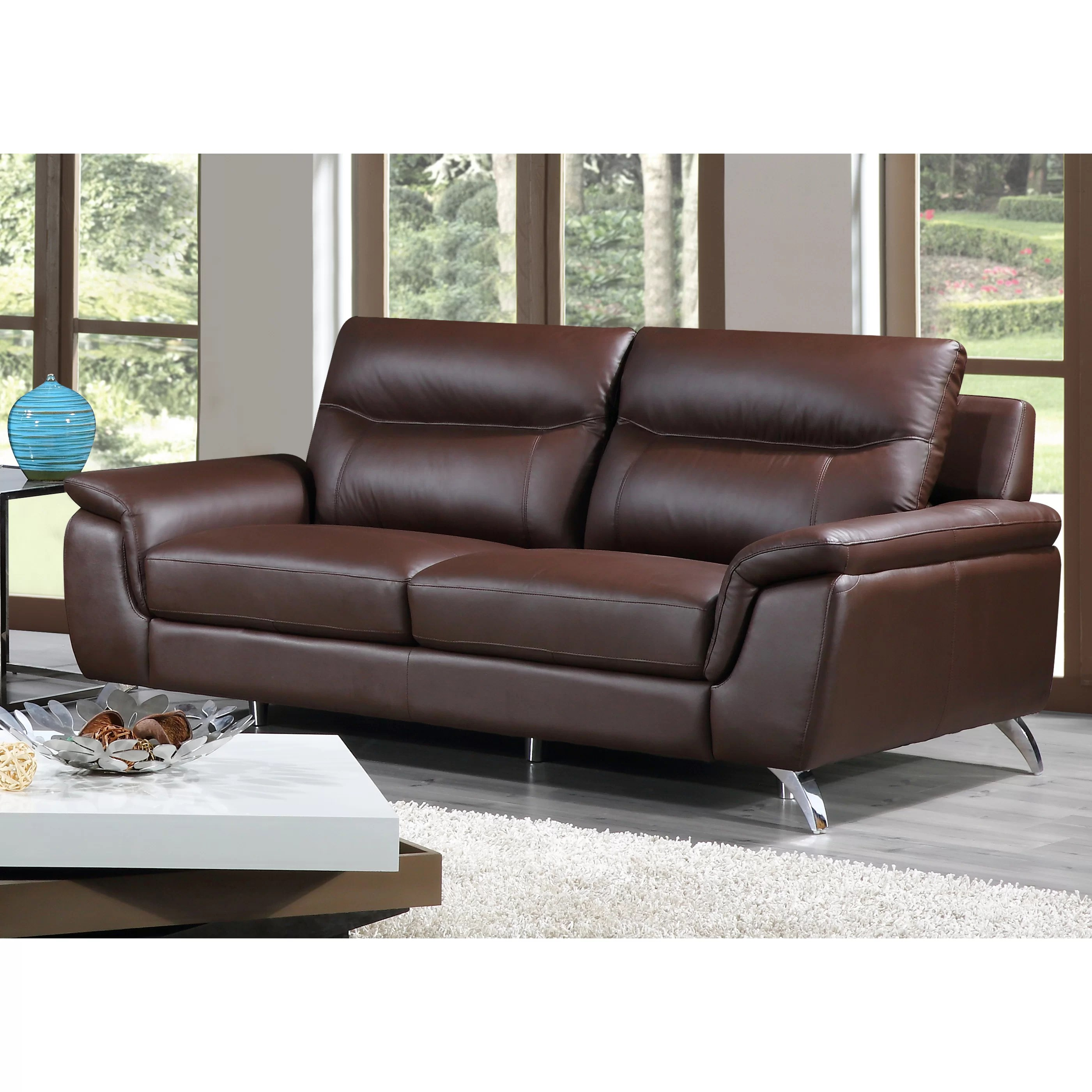 leather sofas chicago area sofa protector covers cortesi home and reviews wayfair