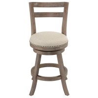 "Cortesi Home 25"" Swivel Bar Stool & Reviews"