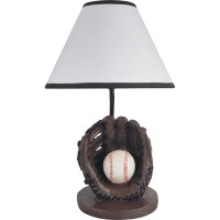 "Milton Green Star Youth Baseball 15.75"" Table Lamp ..."