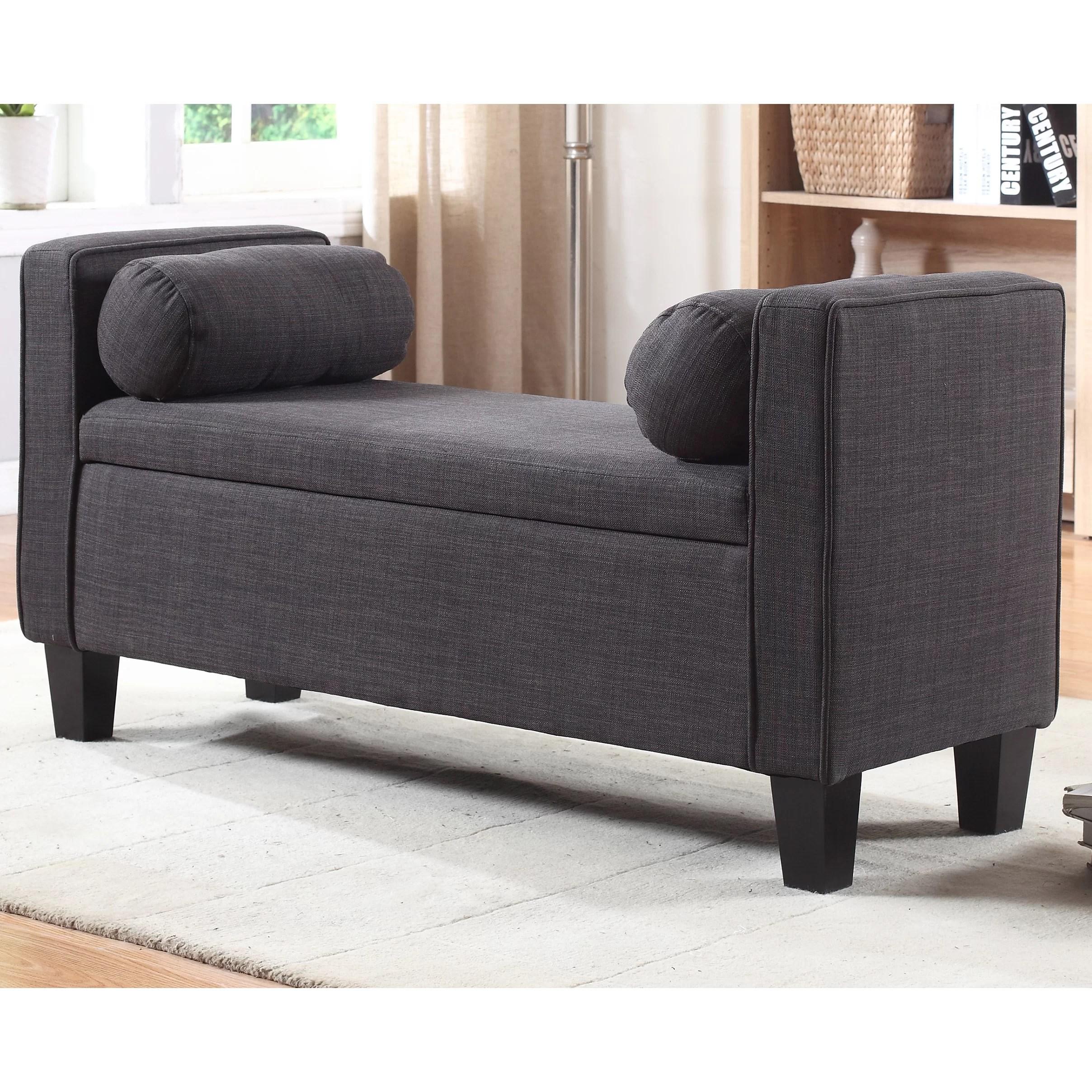 Red Barrel Studio Royce Upholstered Storage Bedroom Bench  Wayfair