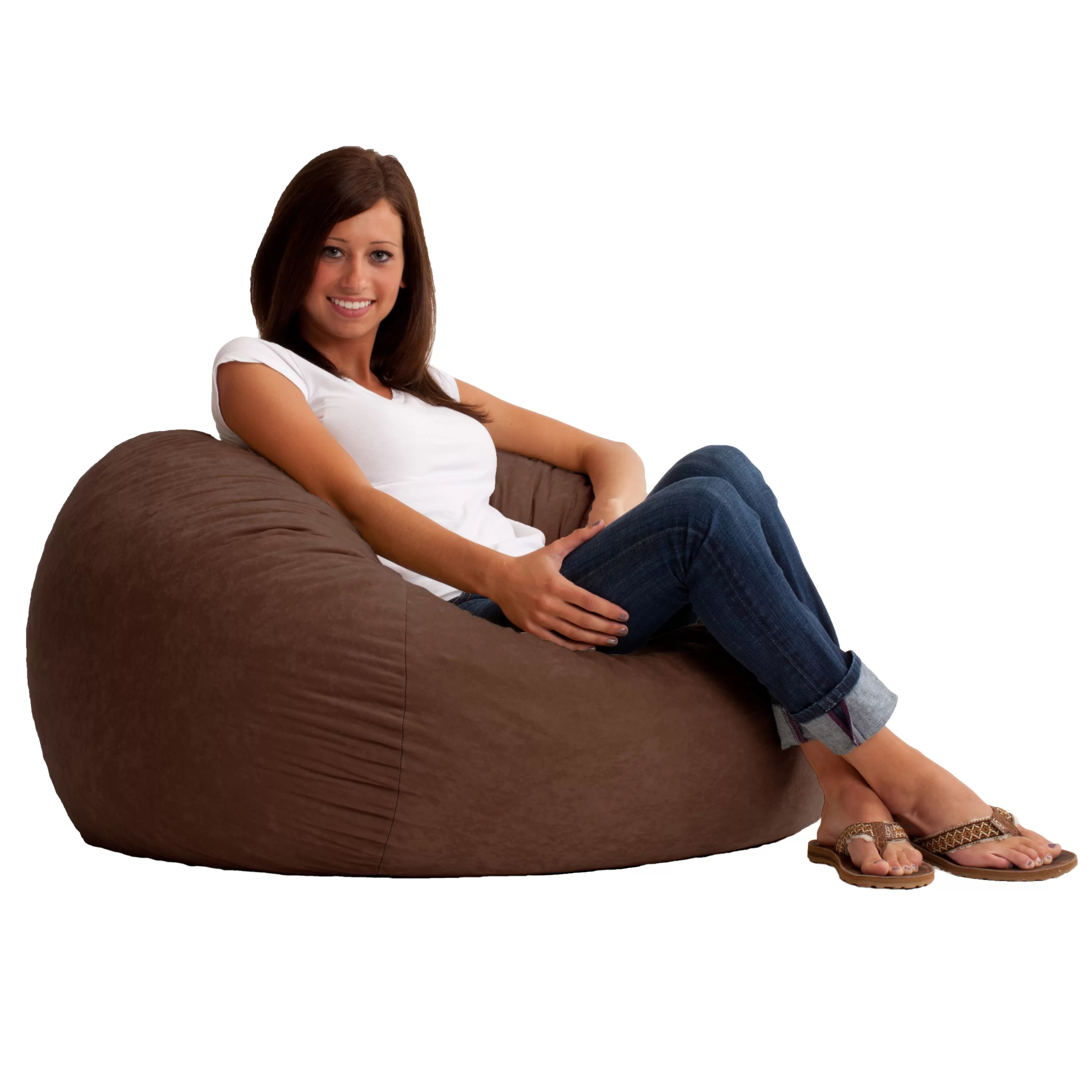 Comfortable Bean Bag Chairs Comfort Research Fuf Bean Bag Chair And Reviews Wayfair