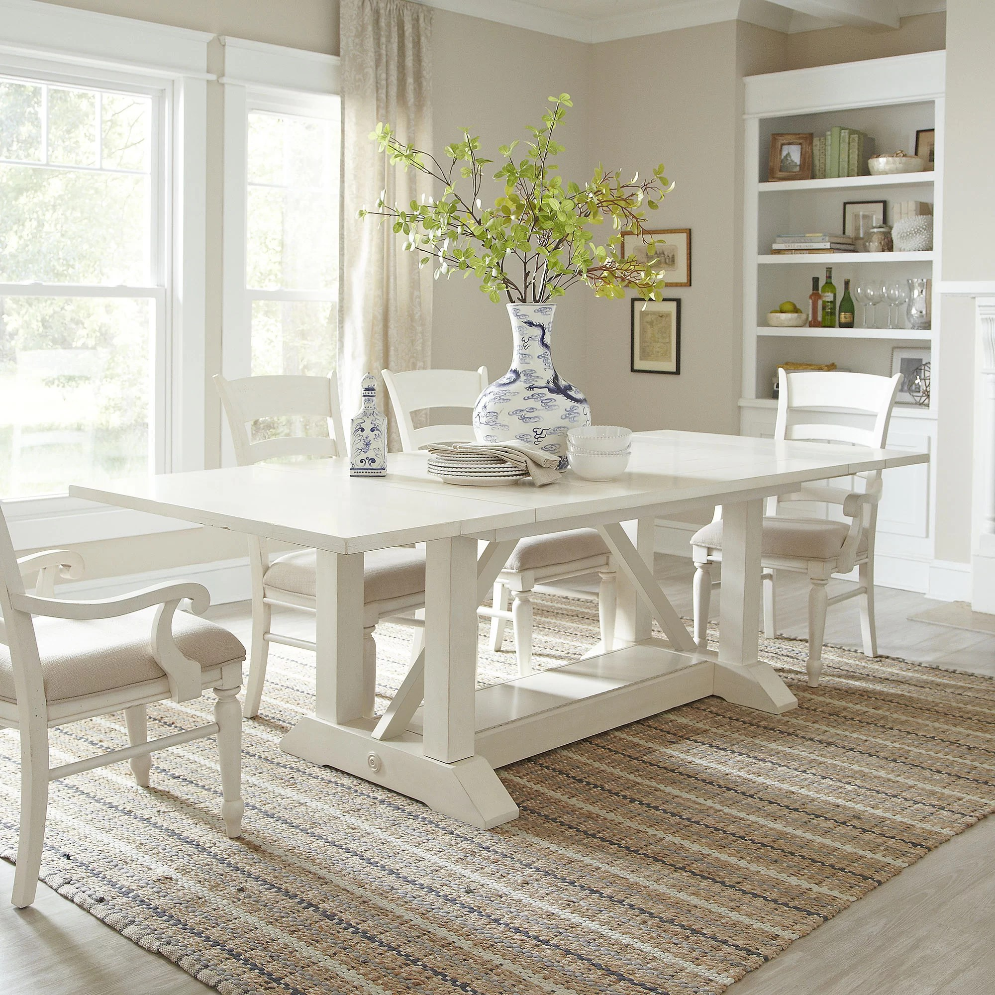 white wood kitchen table displays birch lane lisbon extending dining and reviews wayfair