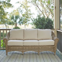 Sunbrella Sofa Cushions Bed Uk Free Delivery Birch Lane Lynwood Wicker With