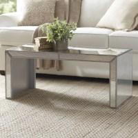 Birch Lane Elliott Mirrored Coffee Table & Reviews   Wayfair