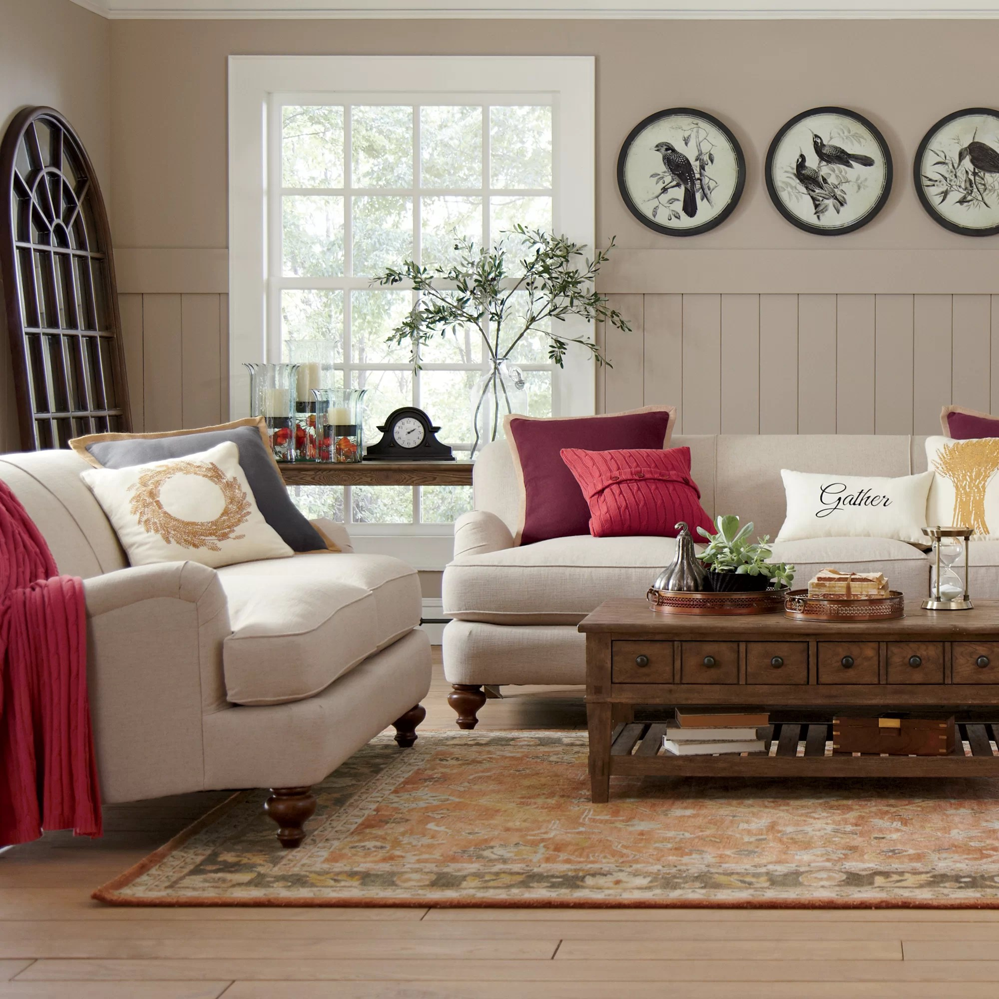 durham sofa wayfair reclining with pull down table birch lane loveseat and reviews