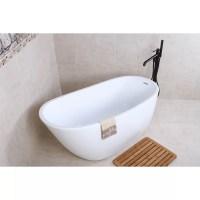 "Kingston Brass Aqua Eden 59"" x 28.6"" Soaking Bathtub ..."