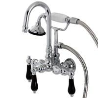 Kingston Brass Duchess Wall Mount Clawfoot Tub Faucet ...