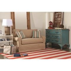 Twin Sleeper Sofa Slipcover Red And Black Bed Rowe Furniture Somerset Wayfair