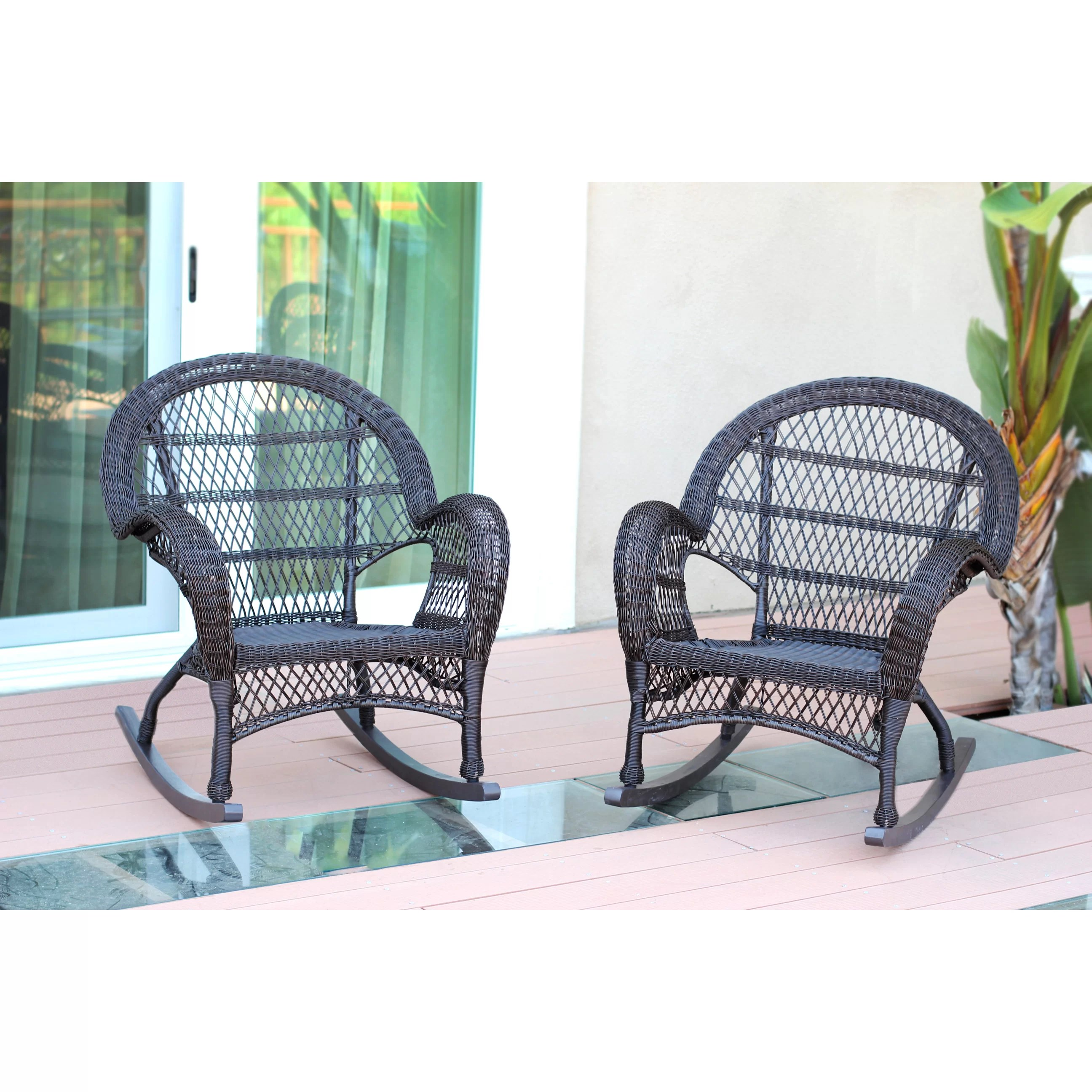 Wicker Rocker Chair Jeco Inc Wicker Rocker Chair And Reviews Wayfair