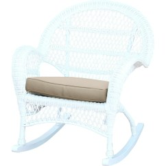 Rattan Wicker Rocking Chair Cushion Mid Century Leather Jeco Inc Rocker With Cushions Wayfair