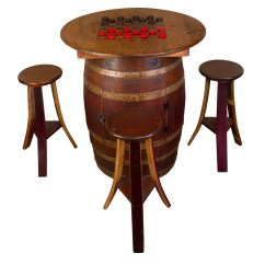 Whiskey Barrel Pub Table And Chairs Steel Guitar Chair Napa East Collection 5 Piece Set