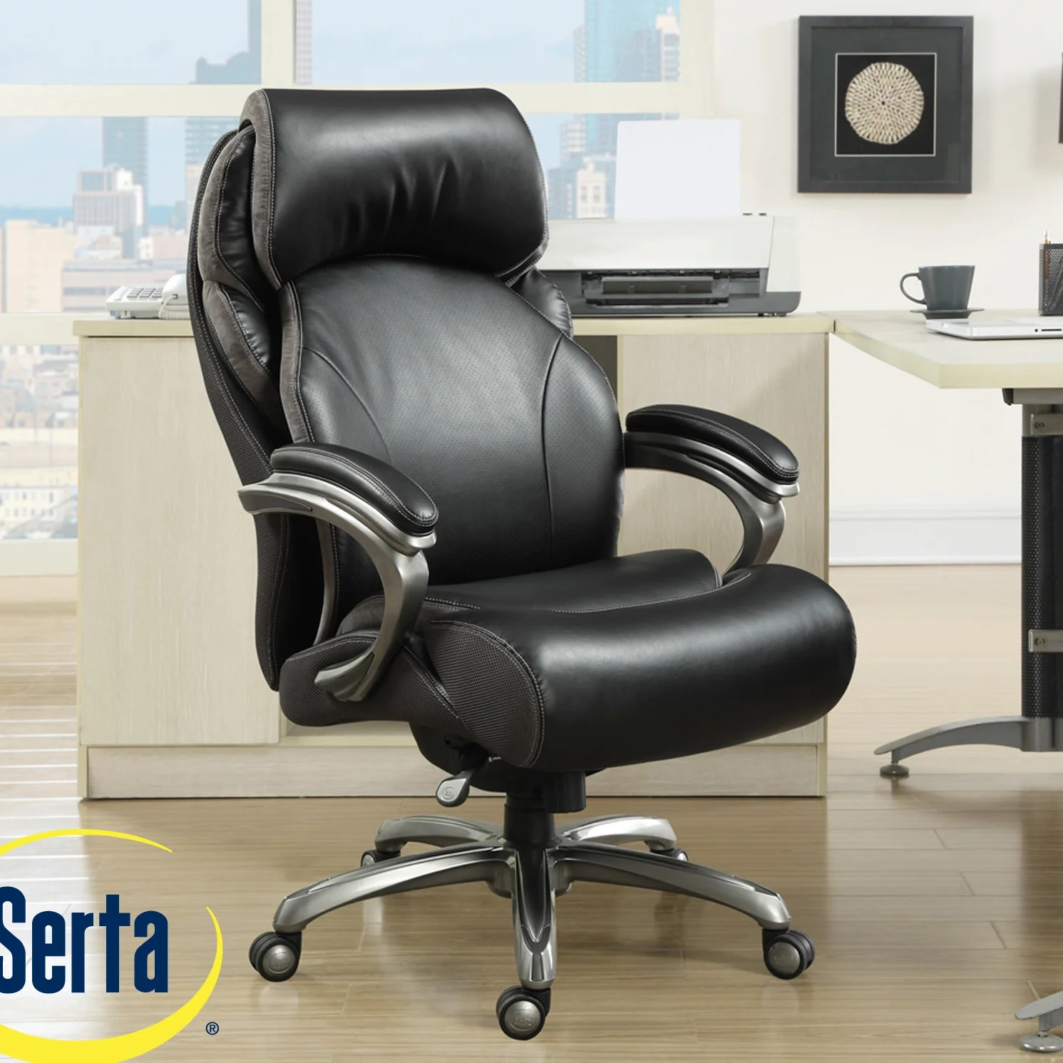 serta managers chair antique cane bottom rocking at home tranquility high back executive with