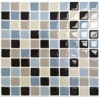 "Smart Tiles Mosaik 9.85"" x 9.85"" Peel & Stick Mosaic Tile ..."