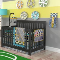 Vintage cars crib bedding sets